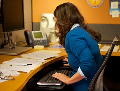 poor posture at desk